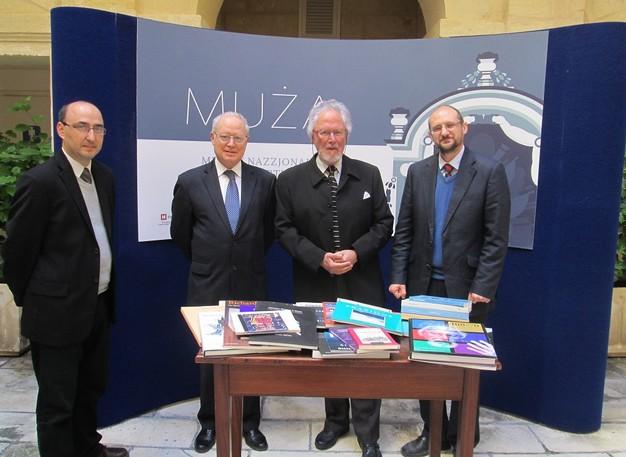 Richard England donates selection of books to Heritage Malta