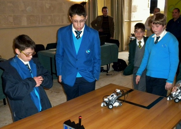 Gozo College Boys' Secondary students win science robotics competition