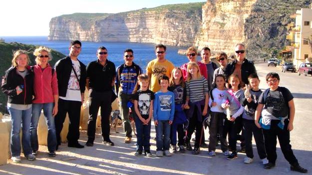 International group of volunteers take part in Gozo clean-up hike