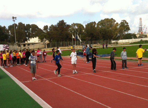 Qala Primary school children take part in MAAA races in Malta