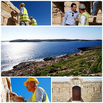 Qala Mayor visits ongoing restoration work at St Anthony's Battery