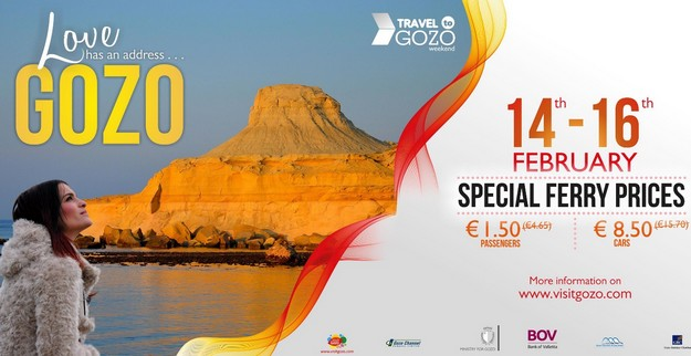 Travel to Gozo for Valentine's weekend with reduced Gozo Channel fares