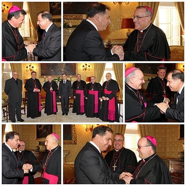 Bishops pay courtesy visit to President Abela at San Anton Palace