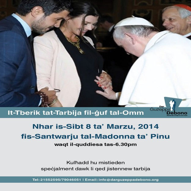 Rite of Blessing of the Unborn Child to take place at Ta' Pinu