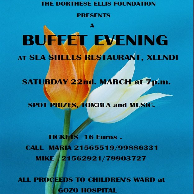 Bazaar & a buffet evening in aid of the children's ward at Gozo Hospital