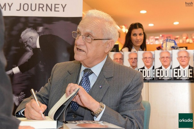 Eddie Fenech Adami Gozo book signing attracts large crowds