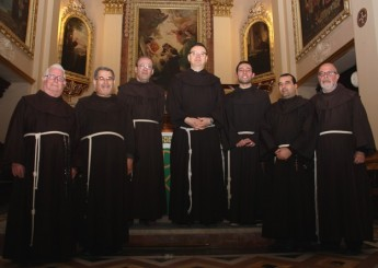 Fr. Salvatore Ferro OFM visits the Franciscan Fraternity in Ghajnsielem