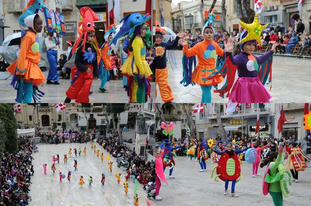 A colourful Carnival kicks off in Gozo's Capital City of Victoria