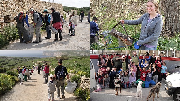 Sunday's Gozo Clean & Green Hike is a great success