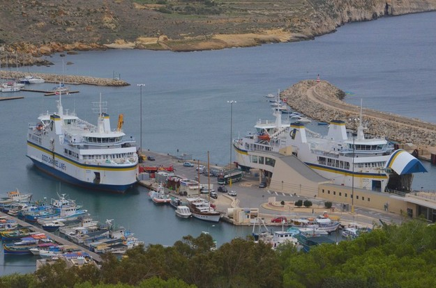 Early morning Gozo Channel ferry trips every 30 minutes on Tuesday