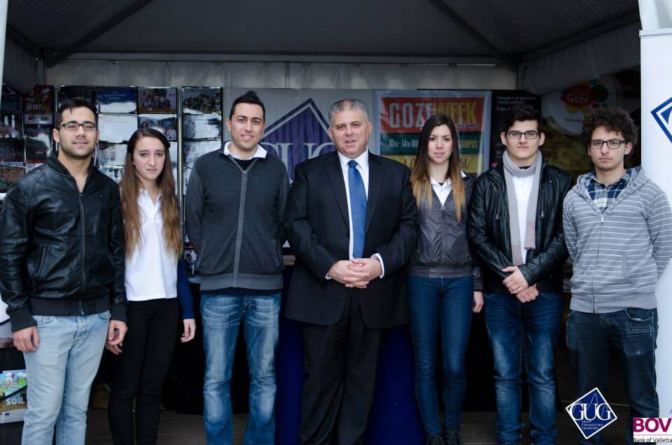 Minister for Gozo pays a visit to Gozo Week on Campus