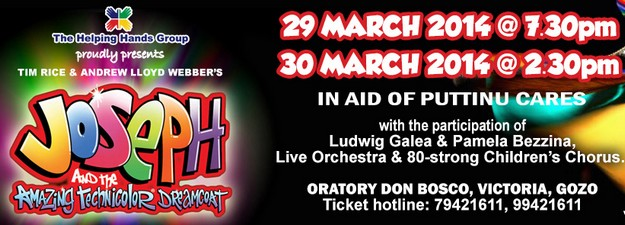 'Joseph and the Amazing Technicolor Dreamcoat' in aid of Puttinu Cares