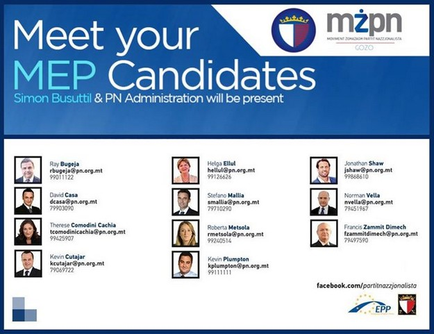 Gozo's 'Meet the MEP Candidates' event with MZPN Gozo