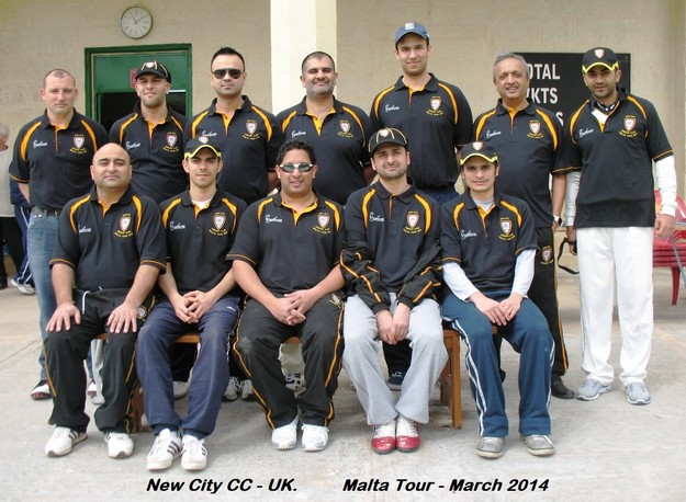 New City CC of the UK take on Marsa CC in 3 game series