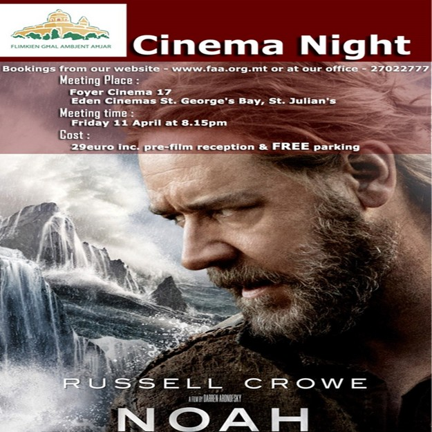 'Noah' chosen as the first film for FAA's fundraising film night
