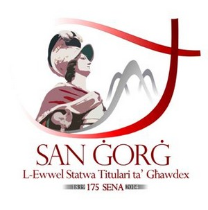 Official logo for 175th anniversary of St George's Titular Statue