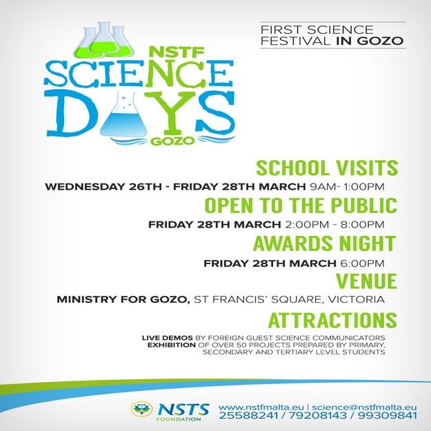 'Science Days in Gozo' - First Science Festival in Gozo