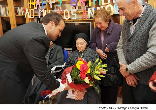 Gozitan nun, Sr Lydia Formosa celebrates her 105th birthday