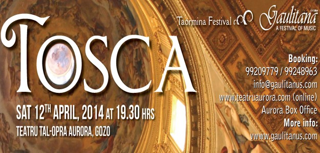 Special price student tickets for Gaulitana's Tosca