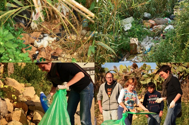 WAAO clean up operation & kitten rescue at the Kercem Valley