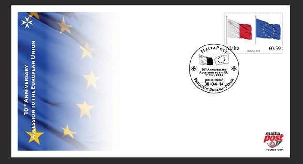 10th Anniversary stamp issue - Accession to the European Union