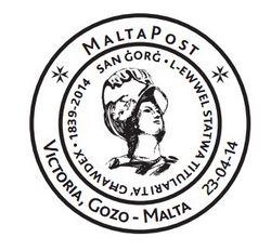 Special Hand Postmark – San Gorg – L-ewwel Statwa Titulari ta' Ghawdex
