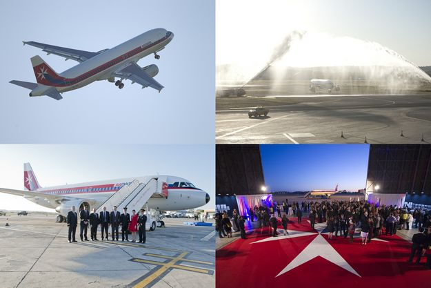 Air Malta delivers retro livery aircraft to mark 40th anniversary