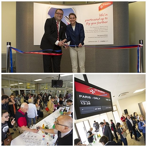 Air Malta and Air France celebrate first joint flight