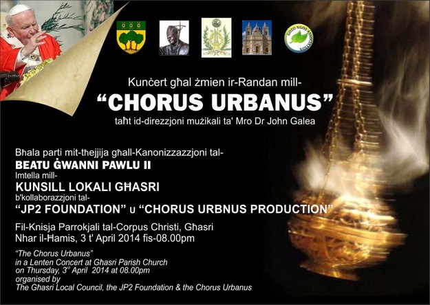 A Concert of Sacred Music with Chorus Urbanus in Ghasri