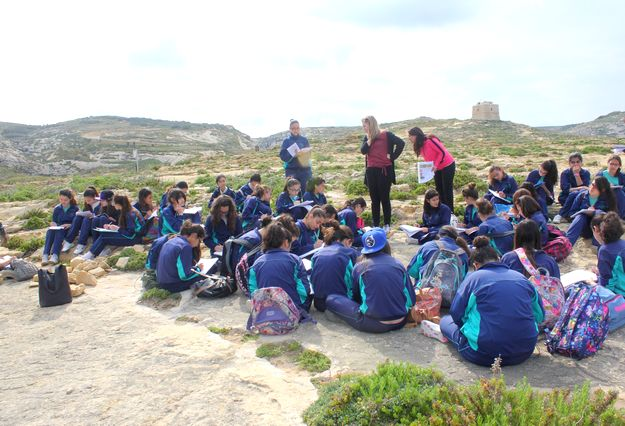 Bishop's Conservatory Secondary Form 3 Biology students visit Dwejra