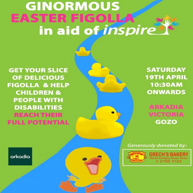 Easter Figolla at Arkadia this Saturday in aid of Inspire