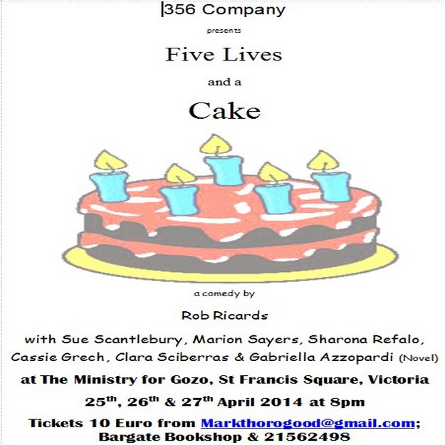 Five Lives and a Cake: Comedy play by the 356 Company Gozo