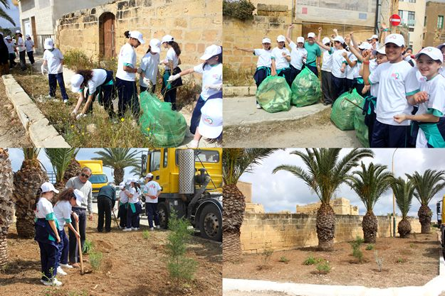 Victoria students help the 'Cleaner and Greener Gozo' campaign