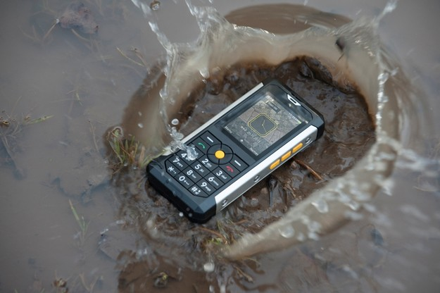 Mobile phone designed for harsh environments, available at GO