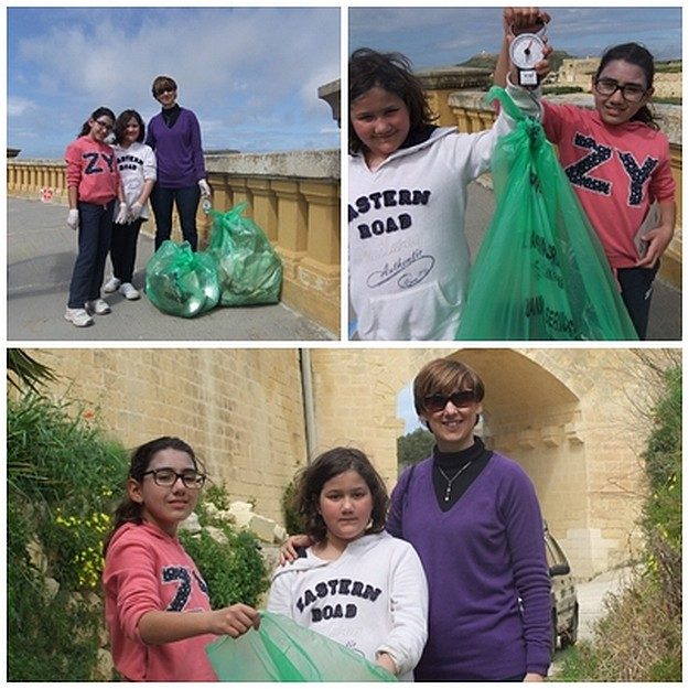 Gozo College Gharb Primary help in the 'clean up' Gozo campaign