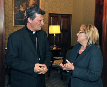 Gozo Bishop pays courtesy visit to President Marie-Louise Coleiro Preca