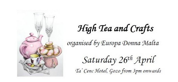 Enjoy a High Tea & Crafts event in aid of Europa Donna Malta