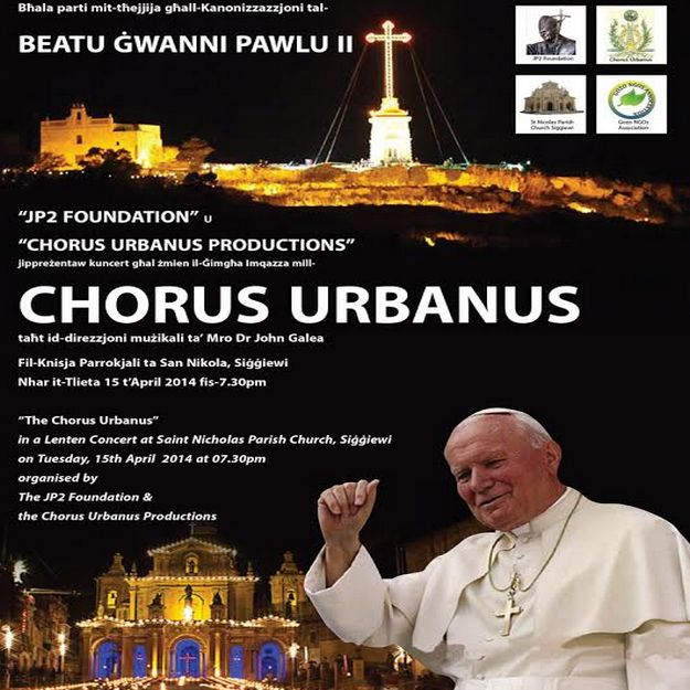 Chorus Urbanus to perform Sacred Music concert in Siggiewi