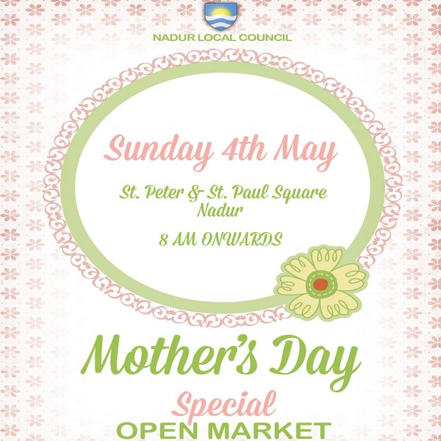 Special Pre-Mother's Day Open Market being held in Nadur