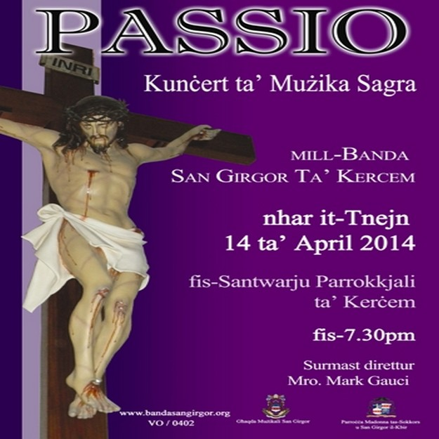 Concert of sacred music by the Ghaqda Muzikali San Girgor