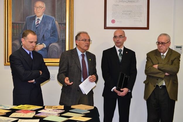 Presentation of Albert M. Cassola's papers to University Library