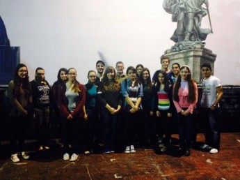 Gozitan 6th form students take a tour of the Aurora Theatre