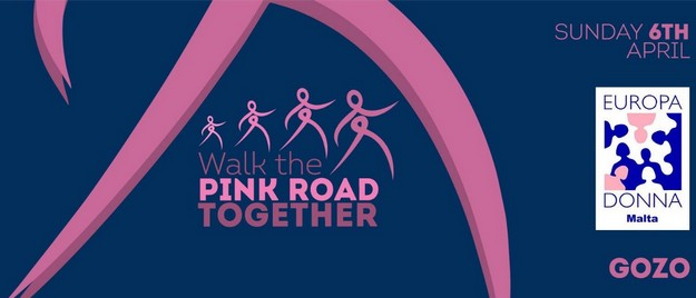 Gozo's 'Walk the Pink Road Together' this coming Sunday