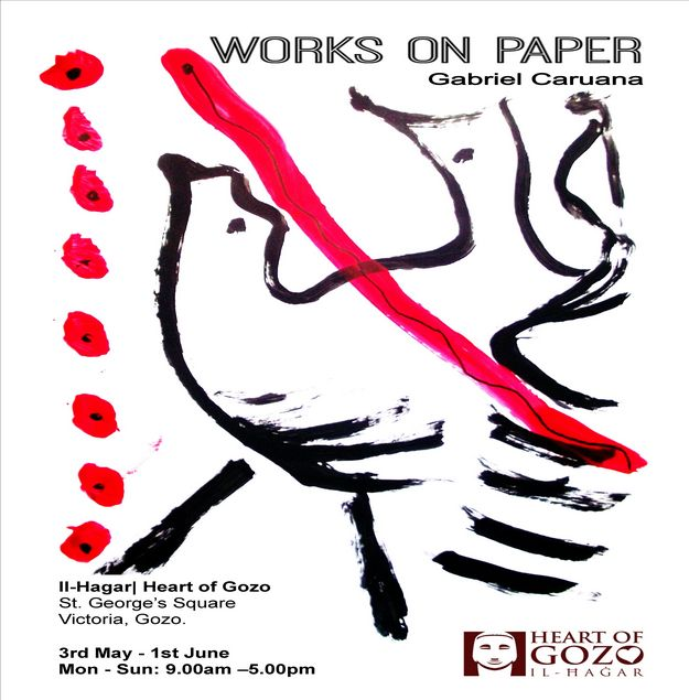 Gabriel Caruana...works on paper: Exhibition at Heart of Gozo Museum