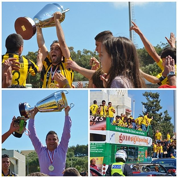 Xewkija Tigers team & fans celebrate sixth Championship win