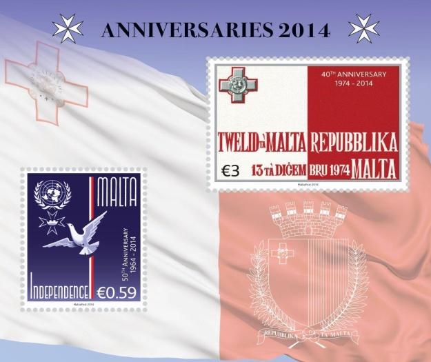 MaltaPost celebrates two milestones in Malta's history