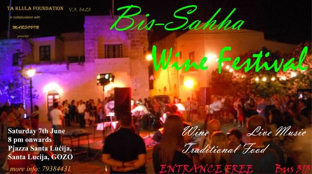 'Bis-Sahha' Wine Festival: Wine, food and music in Santa Lucija