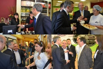 Dr Simon Busuttil pays a visit to the Magro Food Village in Xewkija