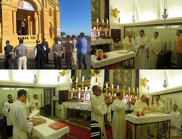 Deacon Daniel Sultana takes his vows at Ta' Pinu prior to his Priestly Ordination