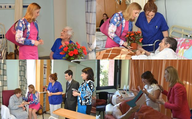 Dr. Justyne Caruana pays a Mother's Day visit to Residenza Sant' Anna